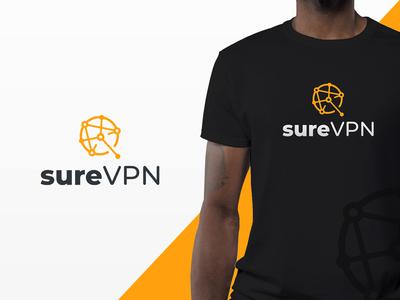 SureVPN Logo Design for a Tech Start-up at Disrupt SF 2018