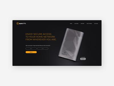 SureVPN Web Design for a Tech Start-up at Disrupt SF 2018