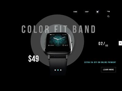 Dark theme UI colors heroes  ui frontend design dark mode colorfit band samrtwatch uiux dark theme