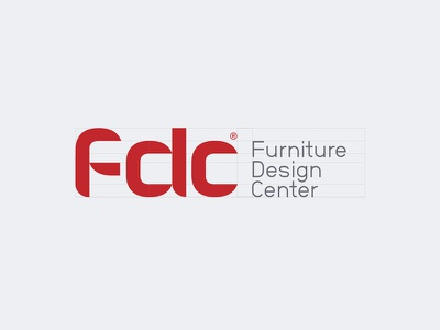 Unapproved proposal — FDC® furniture curve geometric typhography typo logotypo