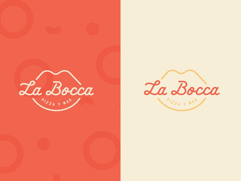 La Bocca Restaurant seal badge type typography fashion identity brand logo