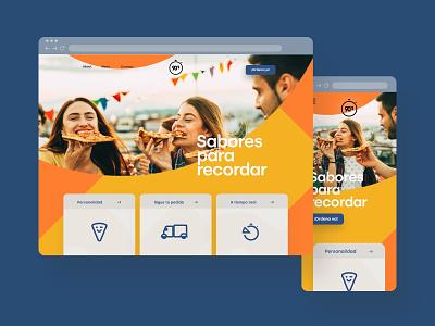 Web Design — Pizza 90's food pizza ui  ux ui web  design webdesign web
