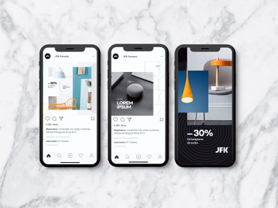 Social media Design branding brand lamp decor layout social media