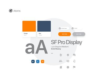 Atoms Design buttons orange typeface web design ui design atomic design