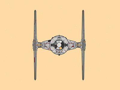 TIE Fighter illustrator illustration vector art vector tie fighter star wars