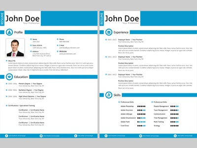 clean resume design by jason lets just design dribbble