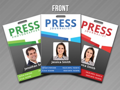 Press pass credentials template vol 1 by jason lets just for Media press pass template