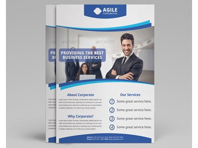 Corporate Flyer Template Vol 13 By Jason Lets Just Design Dribbble