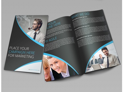 creative corporate bi fold brochure vol 14 by jason lets just