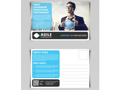 Corporate Postcard Template Vol 1 by Jason | Lets Just Design ...