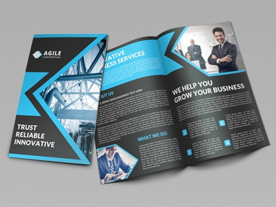 creative corporate bi fold brochure vol 16 by jason lets just