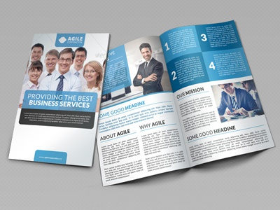 corporate bi fold brochure vol 19 by jason lets just design dribbble