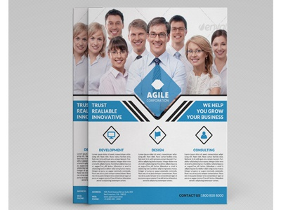 Corporate Flyer Template | Corporate Flyer Template Vol 25 By Jason Lets Just Design