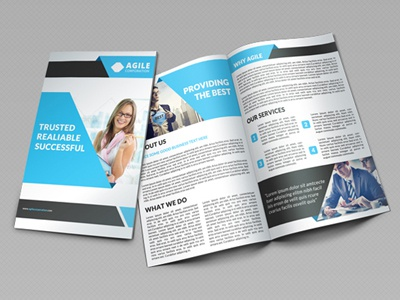 creative corporate bi fold brochure vol 21 by jason lets just