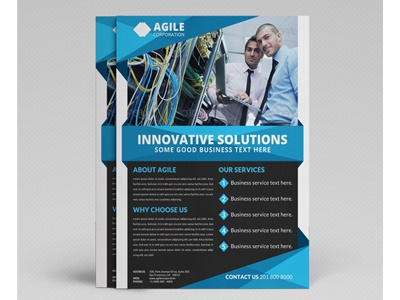 Corporate Flyer Template Vol 27 By Jason Lets Just Design