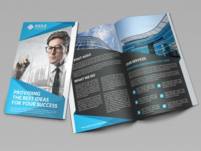 creative corporate bi fold brochure vol 25 by jason lets just