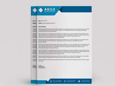 Corporate Letterhead Vol  By Jason  Lets Just Design  Dribbble