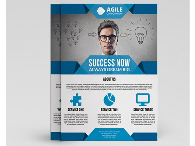 Corporate flyer template vol 34 by jason lets just design dribbble friedricerecipe Images