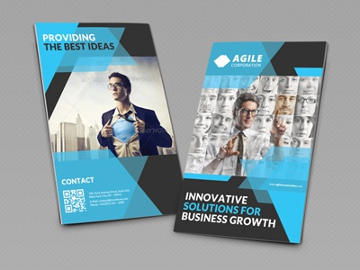 creative corporate bi fold brochure vol 30 by jason lets just design dribbble