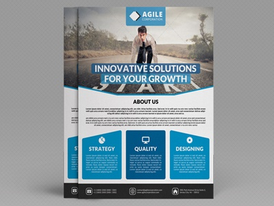 Corporate Flyer Template Vol By Jason Lets Just Design Dribbble - Modern brochure template