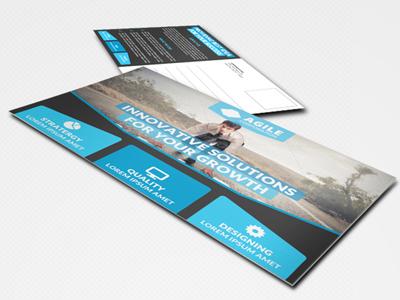 Corporate Postcard Template Vol 9