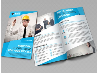 creative corporate bi fold brochure vol 33 by jason lets just