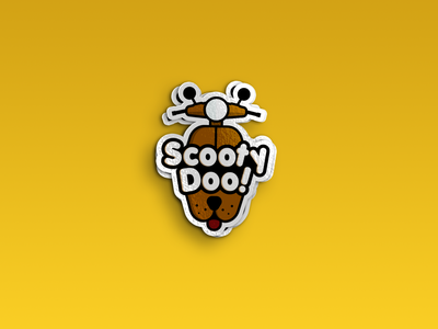 ScootyDoo! logo design guideline print brand website app ui ux vector illustration icon design scoobydoo dog scooter branding logo graphic design