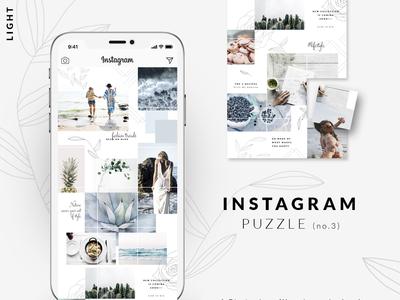 Instagram PUZZLE template - Light