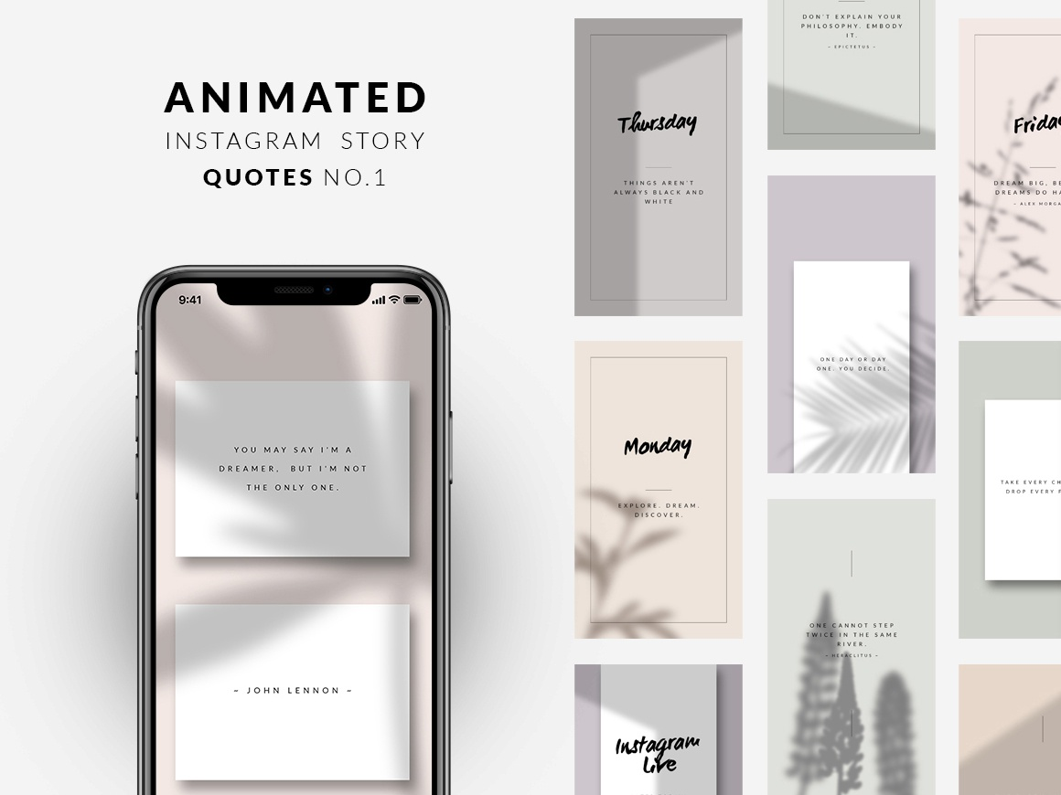 Animated Instagram Story Quotes No 1 by CreativeFolks on