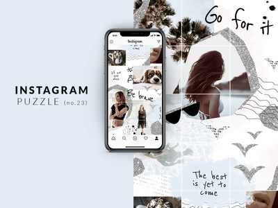 Instagram puzzle template - Modern