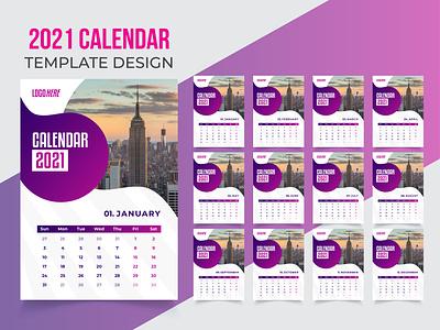 Desk Calendar Template Design 2021 Free Download logo illustration calendar design ui flyer template business flyer design