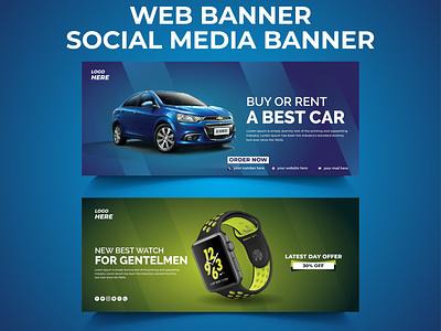 Web Banner, Social Media Post Design web banner design website design car sell post social media banner images social media banner psd