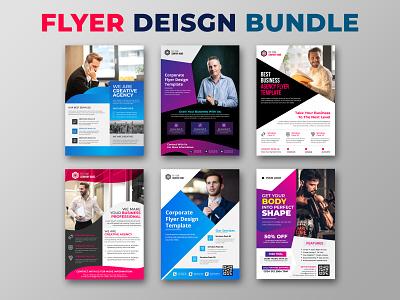 Flyer Design Bundle Template flyers print flyer bifold brochure banner design trifold brochure branding flyer design flyer template corporate flyer business flyer design