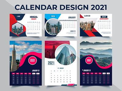 2021 Calendar Template Design Bundle print flyer flyer design banner design trifold brochure business flyer design corporate flyer wall calendar template
