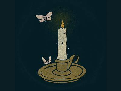 Candle Study photoshop procreate truegrit texture vintage illustration