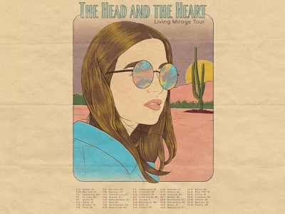 The Head And The Heart gig poster band poster vintage truegrit texture photoshop illustration