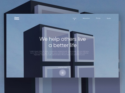 Open boxes Landing page
