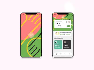Bank account Mobile screen