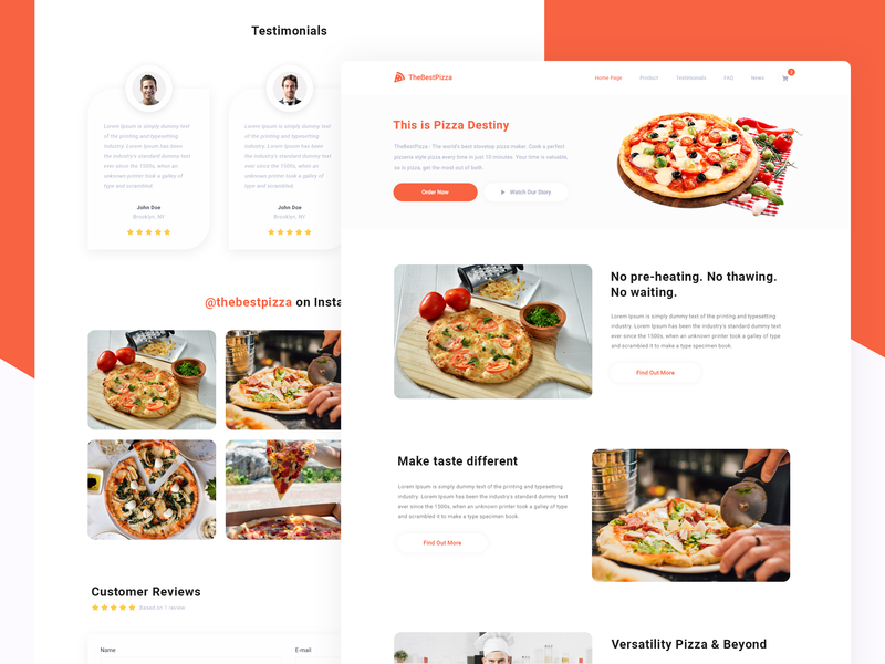 Pizza ordering design clean order shopify food pizza concept ux ui web website user interface interface design