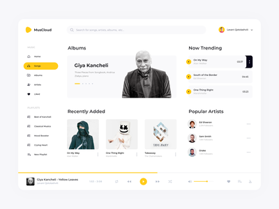 Music Web App UI