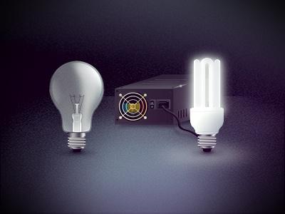 Energy Efficient (PC) bulb light saving power supply low-energy light bulb efficiency energy