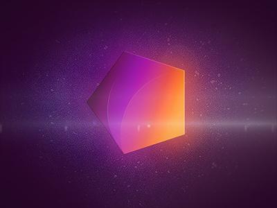 5ecken Logo 5ecken logo pentagon five-sided polygon glow stars