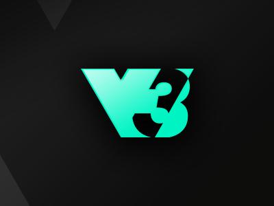 V3 Gaming Logo type typogaphy vector illustraion flat branding identity gaming design logo a day logotype logo design