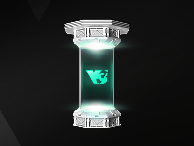 V3 Gaming Rendering – Tube microsite assets effects visual design composing tube gaming 3d rendering logo design