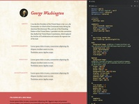 George's landing page