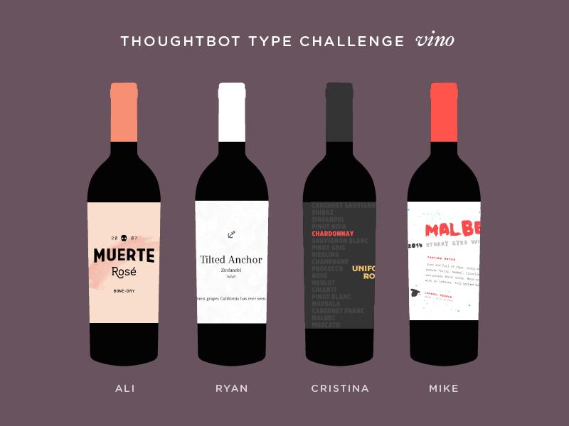 Vino Type Challenge wine typography fun type