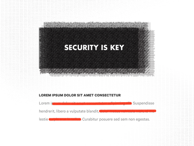 Security is Key on-lock-down seriously-secure redacted secure