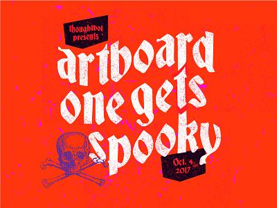 So Artboard 1 Just Happened illustration spooky meetup challenge typography