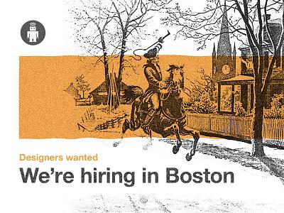 We're hiring designers in Boston designer boston thoughtbot jobs hiring