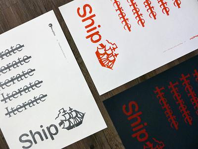 Ship Ship Ship posters design screenprinting